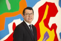 El senador irlandés Rónán Thomas Mullen, este lunes, en el CaixaForum de Barcelona.