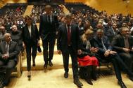 El presidente de la Generalitat, Ximo Puig, la rectora Eva Alcón, el presidente de AICE, José Castellano y numerosas autoridades asistieron al acto.