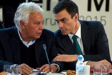 Felipe González y Sánchez, juntos en un acto celebrado en 2015.