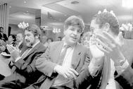 Gregorio Ordóñez, la víctima con la que ETA se anticipó a la ponencia 'Oldartzen', junto a Mayor Oreja y Alberto Ruiz-Gallardón.