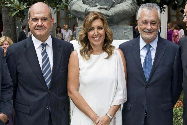 Los ex presidentes de la Junta de Andalucía, Chaves, Díaz y...