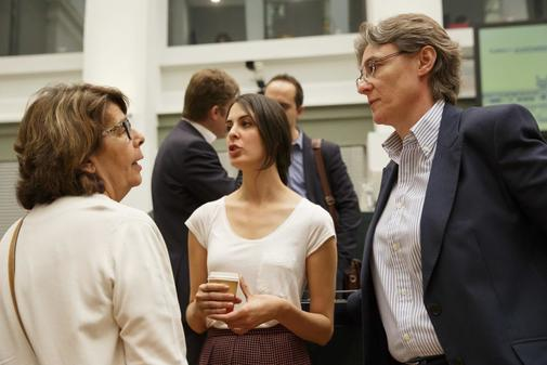 Marta Higueras, Rita Maestre e Inés Sabanés, en un pleno municipal
