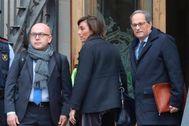 Antonio Moreno 18.11.2019 Barcelona Cataluña . Juicio al president Quim <HIT>Torra</HIT> y su mujer a la llegada TSJC Barcelona.