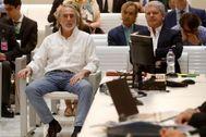 Francisco Correa y Pablo Crespo, durante una sesión del juicio en la Audiencia Nacional.