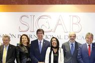 El vicepresidente Marín y otras autoridades en su visita a Sicab 2019.