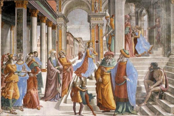 Ghirlandaio, Cappella Tornabuoni, 1485-1490.