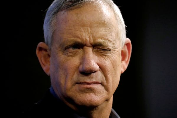 FILE PHOTO: Benny <HIT>Gantz</HIT>, leader of Blue and White party,...