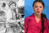 Hallan la fotografía de una niña idéntica a Greta Thunberg