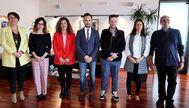 Foto de familia del Consell de Capitalidad, que estrenó ayer el Ayuntamiento de Ibiza. AY. IBIZA