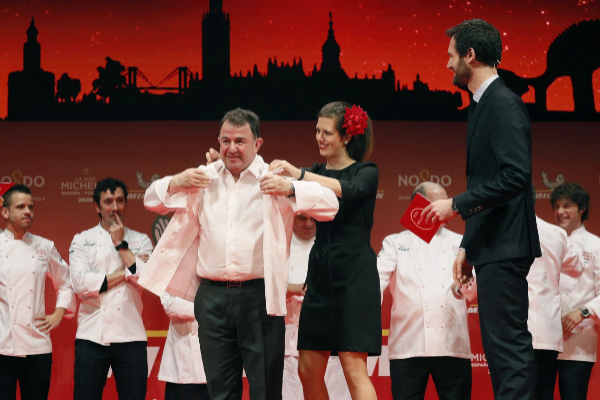 Berasategui suma dos estrellas más a su olimpo gastronómico