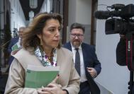 Susana Díaz, la pasada semana en el Parlamento.