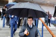 El presidente de la Junta de Andalucía, Juanma Moreno Bonilla, ayer, en el campus de la Universidad Loyola.