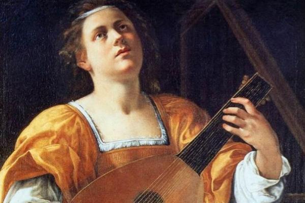 Santa Cecilia tocando el laúd (c. 1616)