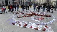 Protesta contra la violencia machista. BERNARDO DÍAZ