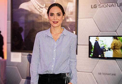 Tamara Falcó durante la presentación de su colección 'Dreams' para LG Signature.