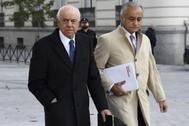 El ex presidente del BBVA, Francisco González, a su llegada a la Audiencia Nacional para declarar.