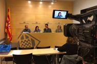 Imagen de los representantes de Guanyem en Girona