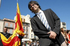 El ex presidente catalán Carles Puigdemont en un acto como alcalde de Gerona, en 2011.