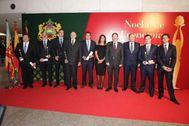 Ximo Puig y José Vicente Morata junto a otras autoridades y los premiados en la Noche de la Economía Valenciana.