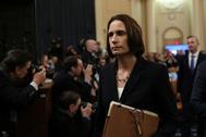 Fiona Hill ante la Cámara de Representantes, el jueves.