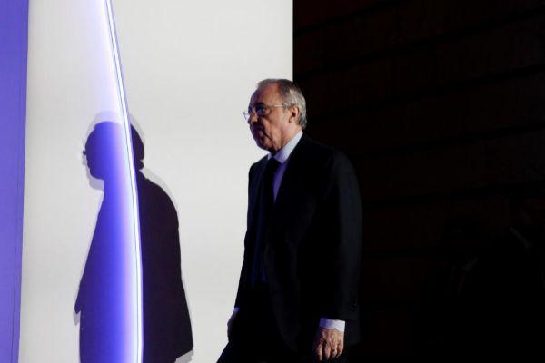 Florentino Pérez, durante la última junta de accionistas de ACS.
