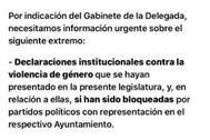 Correo electrónico enviado por la Delegación del Gobierno de Madrid.