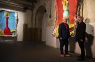 Pedro Almodóvar y Jorge Galindo, en su exposición.