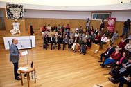 El rector Manuel Palomar durante su intervención con motivo del Día  Internacional de la Violencia contra la Mujer.