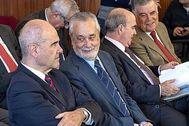 Manuel Chaves, José Antonio Griñán, Gaspar Zarrías y José Antonio Viera, en el juicio de los ERE.