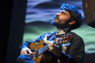 El guitarrista Joselito Acedo en la presentación de su obra 'Triana D.F.'