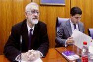 El ex consejero Antonio Ávila, este jueves, ante la comisión de investigación de la Faffe.