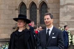 Los príncipes Alois y Sofía, el pasado mayo, en el funeral del gran duque Juan.
