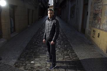 Chakib Lachgar, fotografiado en San Sebastián.
