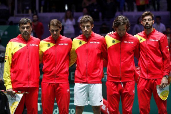GRAF4500. MADRID.- (Se izq a der) El equipo español de la Copa Davis,...