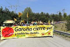 Protesta a favor del cierre de Garoña.