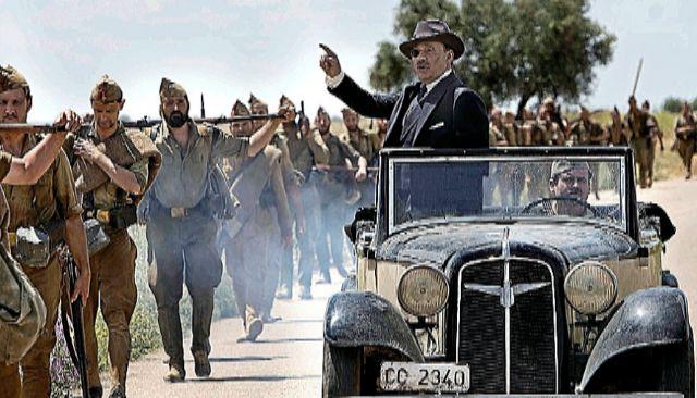 Un fotograma de la película 'Mientras dure la guerra' de Alejandro Amenábar. Teresa Isasi