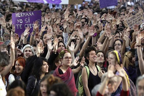 Manifestación en Madrid, contra la sentencia de La Manada
