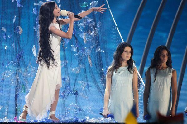 Melani García, durante su actuación en Eurovisión Junior.