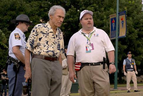 Clint Eastwood y Paul Walter Hauser en un momento del rodaje de 'Richard Jewell'.