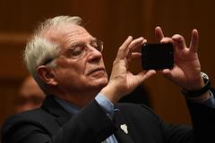 Josep Borrell, ministro de Exteriores en funciones, en una reunión del G-20 en Nagoya (Japón).