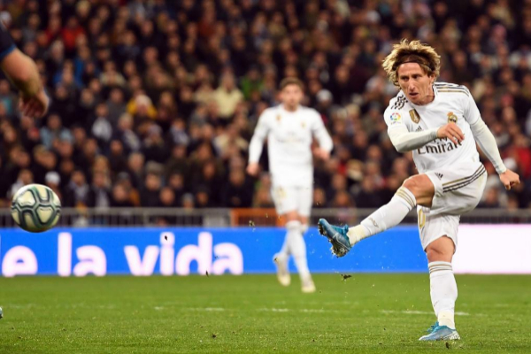 Luka Modric en un partido del Real Madrid