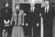 Gorbachov en España, con el entonces presidente Felipe González, en mayo de 1990, cinco meses antes del atentado en Moscú.