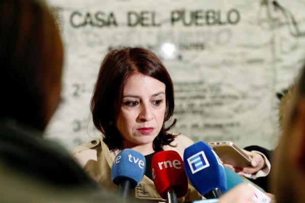 Adriana Lastra encabeza la delegación socialista que negocia la...
