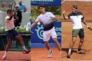De izquierda a derecha: Munar, Alcaraz y Davidovich.