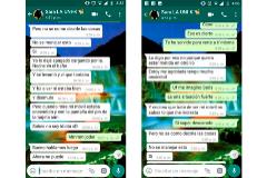Conversación por Whatssap de Sara con una amigo, unas semanas antes de su muerte