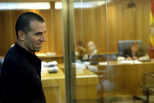 El etarra Ismael Berasategui, durante un juicio en la Audiencia...