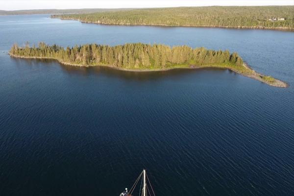 Imagen aérea de la isla de Hollpoint, en Canadá.