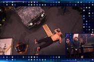 Eduardo Aramayo es atropellado por un todoterreno en Got Talent.