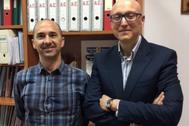 Los autores del trabajo, los profesores Francisco Liébana y Francisco Muñoz.