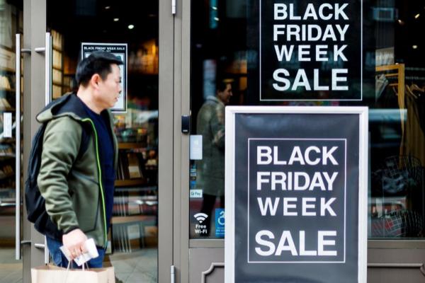 Carteles con ofertas del Black Friday